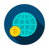 Bitcoin Global Circle Icon