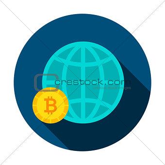 Bitcoin Global Circle Icon