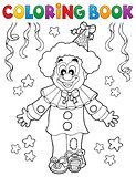 Coloring book clown thematics 2