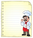 Notepad page with chef theme 2
