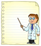 Notepad page with doctor theme 1