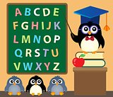 School penguins theme image 3