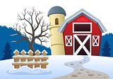 Winter farmland theme 2