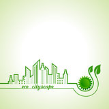 Ecology concept with eco cityscape