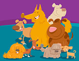 dogs and puppies cartoon animals group