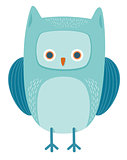 cute owl bird animal character