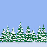 Fir Trees, Seamless Landscape
