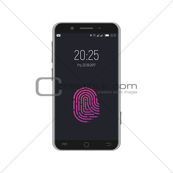 Smartphone with locked screen