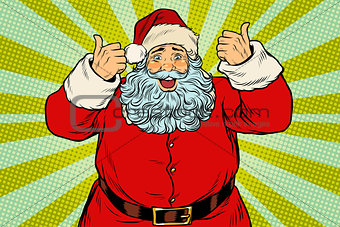Thumb up happy Santa Claus