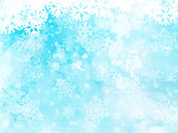 Christmas snowflakes on watercolour background