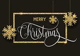 Gold glitter Christmas background