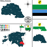 Map of Polva, Estonia