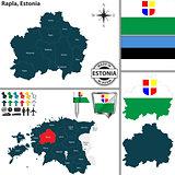Map of Rapla, Estonia