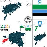 Map of Saare, Estonia
