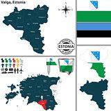 Map of Valga, Estonia