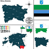 Map of Voru, Estonia