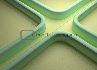 abstract curly maze road background, 3d illustration