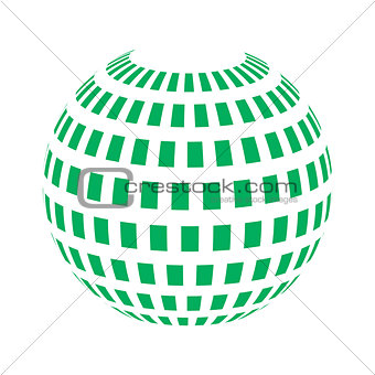 Vector spheres. Abstract technical illustration. 3 D object