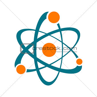 Single vector abstract atom sign icon