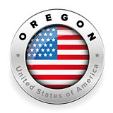 Oregon Usa flag badge button