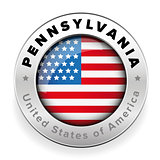 Pennsylvania Usa flag badge button