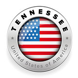 Tennessee Usa flag badge button