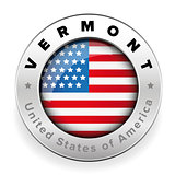 Vermont Usa flag badge button