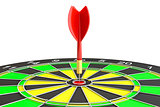 Dart board with arrow, isolated