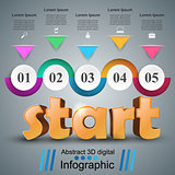 Start 3d business infographics.