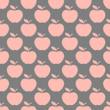 Apple gray pink seamless pattern background