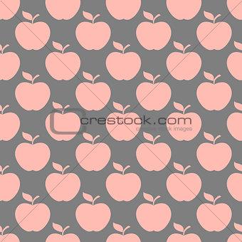 Apple gray pink seamless pattern background