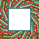 Abstract Christmas mosaic background with frame
