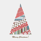 Patchwork design of Christmas tree