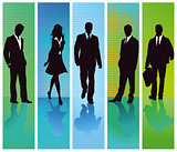 Business people groups set, illustration