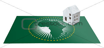 Small house on a flag - African Union