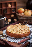 Homemade apple cinnamon crumb coffee cake