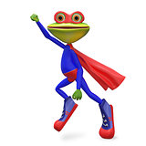 3D Illustration Merry Super Frog