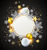 White and golden decorations