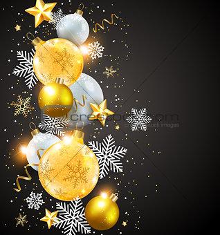 Abstract vector Christmas card