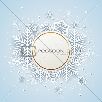 Abstract round Christmas banner.