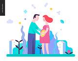 Reproduction - a pregnant couple