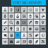 Science and Laboratory icon set