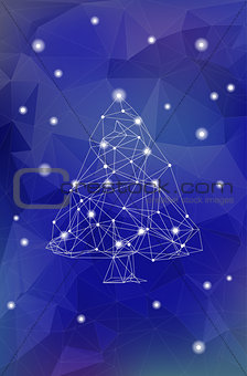 Abstract Polygonal Christmas Tree