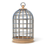 Empty bird cage closed 3D