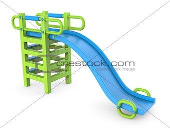 Blue green children slide 3D