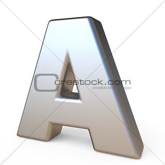 Metal font LETTER A 3D