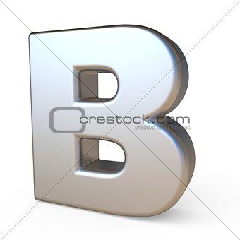 Metal font LETTER B 3D