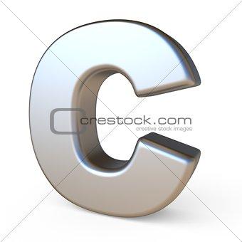 Metal font LETTER C 3D