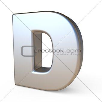 Metal font LETTER D 3D