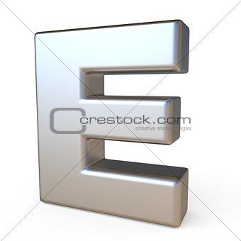 Metal font LETTER E 3D